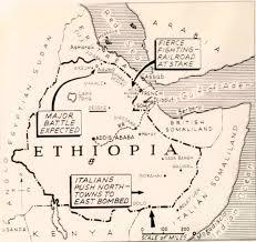 Map Of Ethiopia Ethiopia 3rd October 1935 U2013 The Italian Invasion Begins U2013 Martinplaut