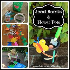 seed bombs and flower pots left brain craft brain