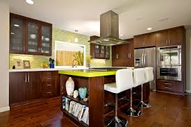 Flat Kitchen Cabinets Custom Contemporary Kitchen Cabinets Alder Wood Java Finish Shaker