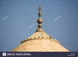 Roof Finials Spires by Close Up Of Domes On Roof Of El Mina Masjid Mosque Hurghada