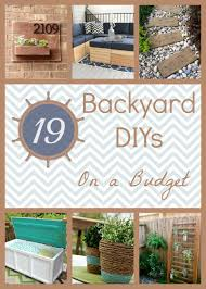 diy backyard projects on a budget outdoor furniture design and ideas