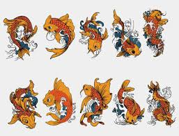 free cartoon koi fish tattoo designs photos pictures and