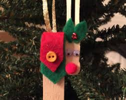 clothespin reindeer etsy
