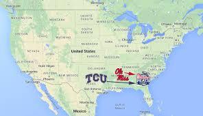 Las Vegas New Mexico Map by Mapping College Football U0027s 6 Big New Year U0027s Bowl Games Sbnation Com
