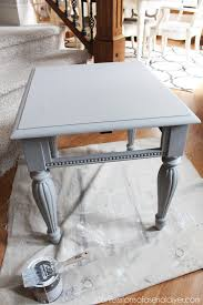 grey washed end tables grey white painted side table confessions of a serial do it