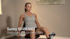 Recumbent Bike Under Desk by Sunny Health U0026 Fitness Sf Rb4601 Recumbent Bike Youtube
