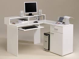 Diy Corner Computer Desk by Black Glass Computer Desk On White Ceramic Floor Tile Closed To