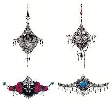 4 x deardeer temporary tattoo beauty jewelry design body art for