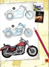 craftside how to draw a 1999 fxr2 from the book how to draw