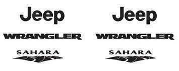jeep wrangler sahara logo jeep wrangler sahara refresh vinyl kit and 50 similar items