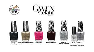 gwen stefani for opi nail polish collection review pt 1 youtube