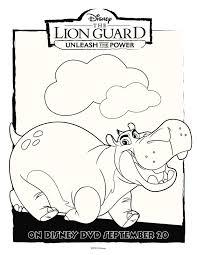 disney the lion guard unleash the power activity coloring pages