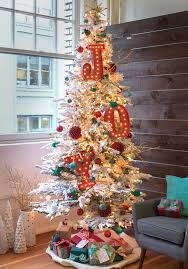 flocked tree picture ideas flockedfrosted