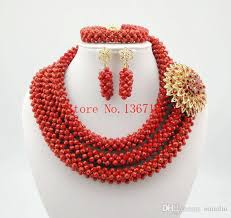 african wedding bead necklace images Online cheap latest new african wedding beads bridal jewelry sets jpg