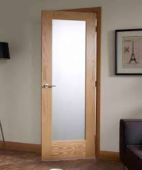 Exterior Glass Door Inserts Interior Door With Frosted Glass Insert Can Be Ideal For Bathrooms