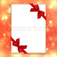 bows and ribbons blank greeting card with bows and ribbons mockup valentines