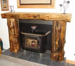 thrifty rustic wood fireplace mantle in rustic fireplace mantel
