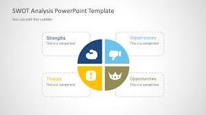 creative swot powerpoint template slidemodel