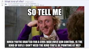 Pro Gun Control Meme - gun nut in r progun gets upvotes for creating a meme predicting a