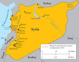 syria on map in the syria we don t by charles glass the new york