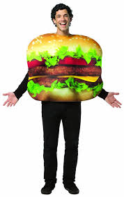 halloween costumes for tall men amazon com rasta imposta cheeseburger costume multi colored one