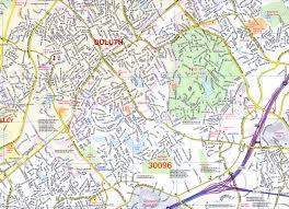 Map Of Atlanta Wall Map Of The Atlanta Metro Area