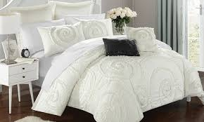 Ruffled Comforter 63 Off On Ruffled Comforter Set 7 Piece Groupon Goods