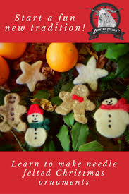 needle felted christmas ornament class