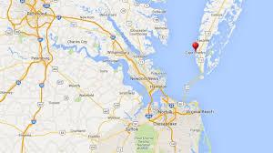Eastern Shore Virginia Map by Chesapeake Bay Bridge Tunnel Va Eastern Shore