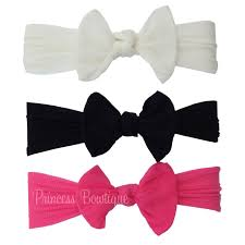 bow headbands baby bow newborn and toddler headband