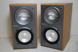 What Hifi Bookshelf Speakers Pair Sony Ss Crb5 Hi Fi 2 Way Stereo Bookshelf Speakers W Wood