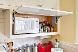 kitchen cabinet with microwave shelf hidden microwave storage in retro kitchen hammer hand nooks