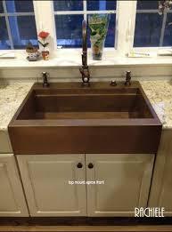 copper apron front sink retrofit copper apron farmhouse sinks top mount or under pertaining