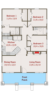 floor plan of a bungalow house plan 50105ph adorable bungalow house plan bungalow craftsman