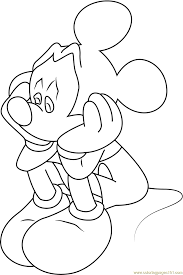 sad mickey mouse coloring free mickey mouse coloring pages