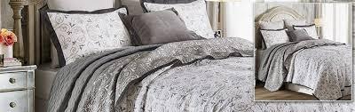 fleur de lis soft gray bedding ensemble