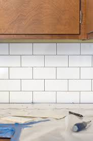 diy kitchen tile backsplash a white subway tile backsplash story green diy