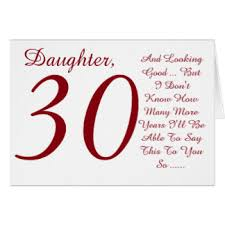 daughters 30th birthday greeting cards zazzle