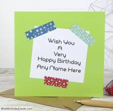 special birthday wishes for men with name card