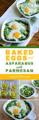 baked eggs and asparagus with parmesan south beach diet