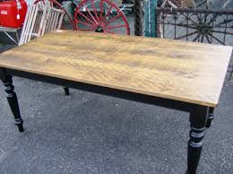 stained table top painted legs reproduction tables