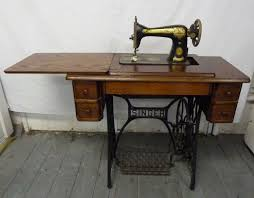 Antique Singer Sewing Machine Table Antique Singer Foot Pedal Operated Sewing Machine Fold Away Table