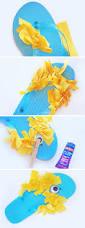 minion flip flops summer kids craft onecreativemommy com
