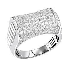 mens engagement rings 2 carat mens diamond ring 10k gold pinky ring
