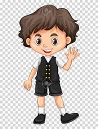 boy clipart boy waving on transparent background illustration royalty