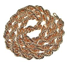 rose gold rope chain bracelet images 30 quot rose gold 10 mm rope chain png