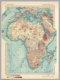 Africa Physical Map by Africa Physical Pergamon World Atlas David Rumsey Historical