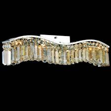 Crystal Bathroom Light Fixtures by Brizzo Lighting Stores Gesto Modern Rectangular Wave Wall Sconce