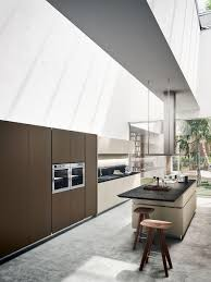 modern italian kitchen with concealed shelves and smart technology