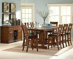 black dining table counter height set with storage base dark
